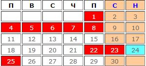 Учебни дни през Април 2022 (календар)
